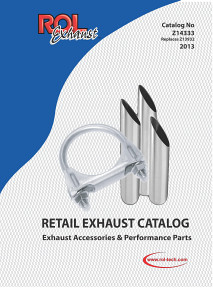 2013 RETAIL EXHAUST ACCESSORIES CATALOG
